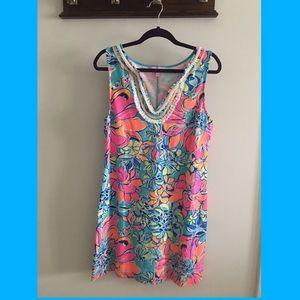 Harper shift dress in Seaside Aqua Breezy Babe